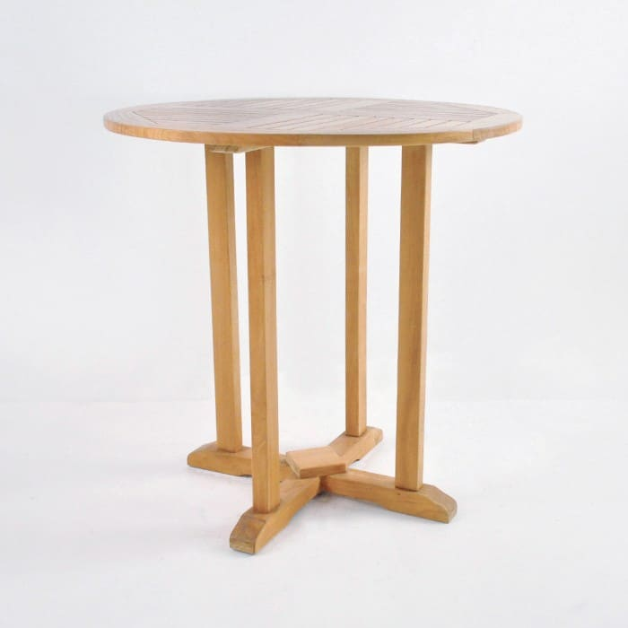 round teak outdoor bar table patio dining furniture