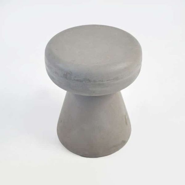 Raw Concrete Side Table/Stool (Round)-923