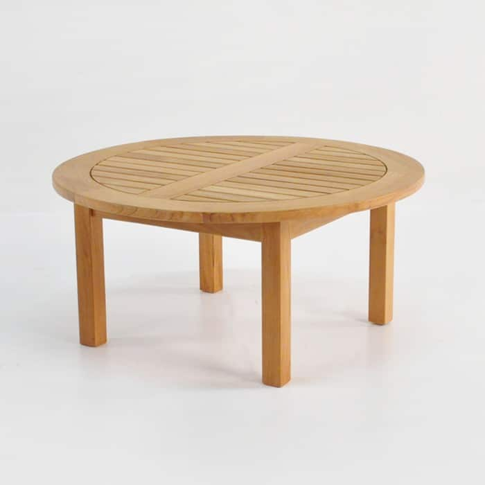 round low coffee table large front angle view