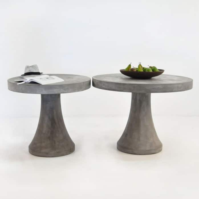 Blok Round Concrete Dining Table | Outdoor Coffee Table | Design Warehouse