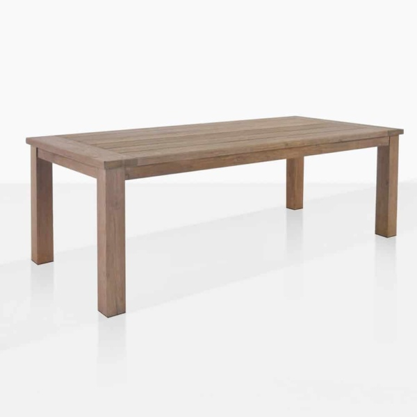 rustic 4 leg angle reclaimed teak outdoor dining table