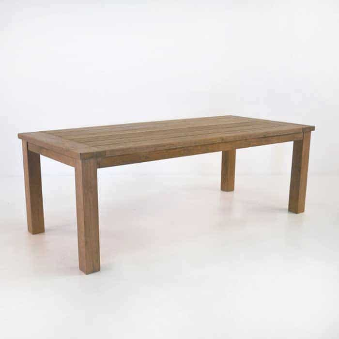 Rustic 4 Legged Outdoor Dining Tables Reclaimed Teak