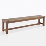 rustic four leg outdoor backless bench