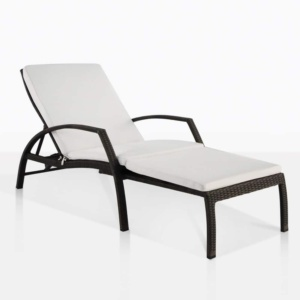 sam adjustable outdoor sun lounger java