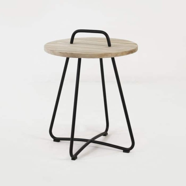 Samba Side Table Drift (Black) front angle view
