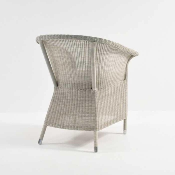 sandra outdoor wicker dining chair back view