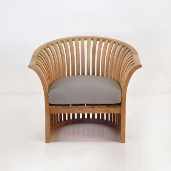 satai teak club chair with sunbrella cushion