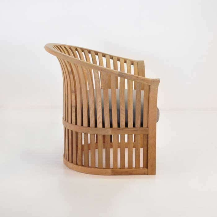 satai teak club chair side view
