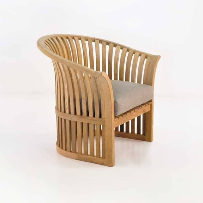 satai teak club chair