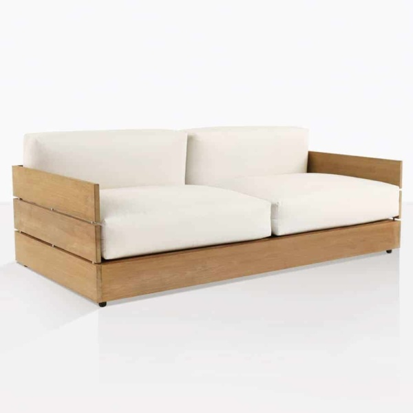 Soho Grande Large Teak Loveseat