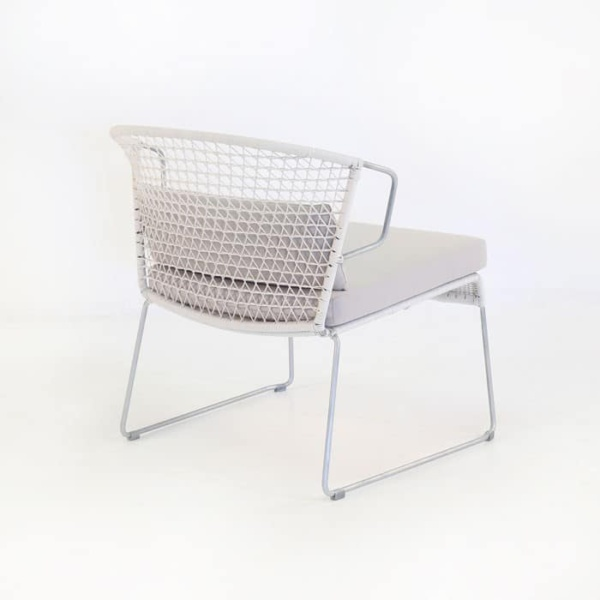 Sophia Outdoor Wicker Relaxing Chair (Chalk)-1113