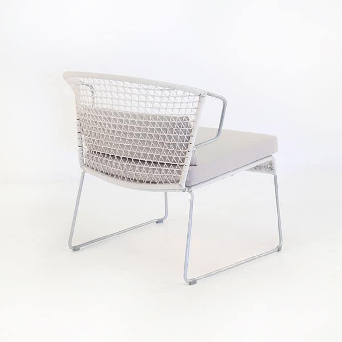 Sophia Outdoor Wicker Relaxing Chair (Chalk)-1113