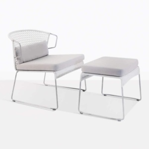 sophia chalk relaxing wicker weave chair and ottoman