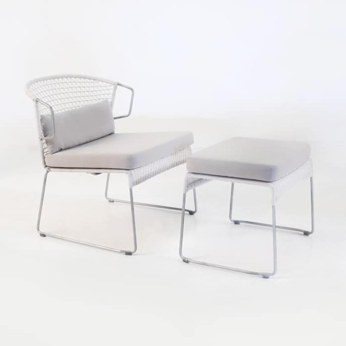 Sophia Relaxing Chair and Ottoman (Chalk)-0