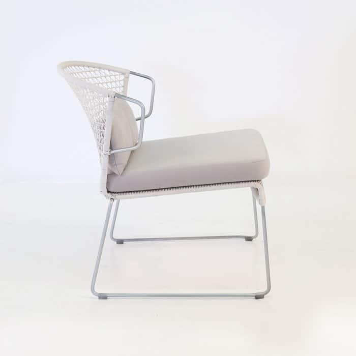 Sophia Outdoor Wicker Relaxing Chair (Chalk)-1115