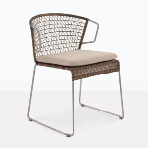 Sophia Modern Wicker Outdoor Dining Chair Sampulut