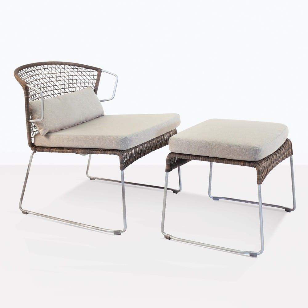 Sophia Wicker Ottoman Sampulut Outdoor Furniture