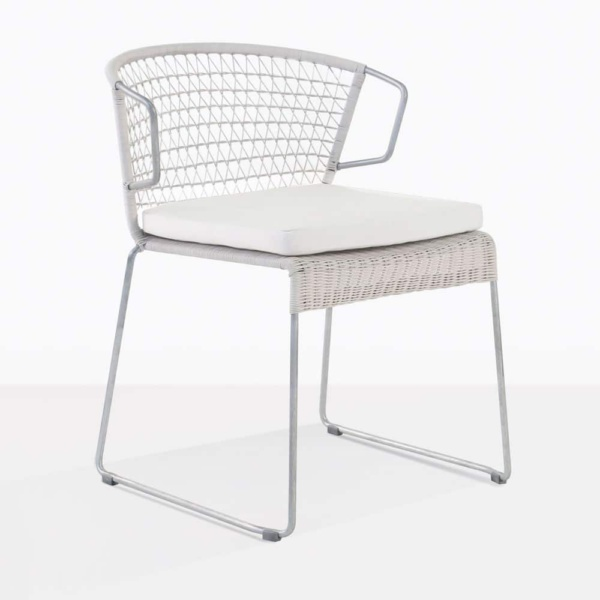 Sophia white angle dining chair