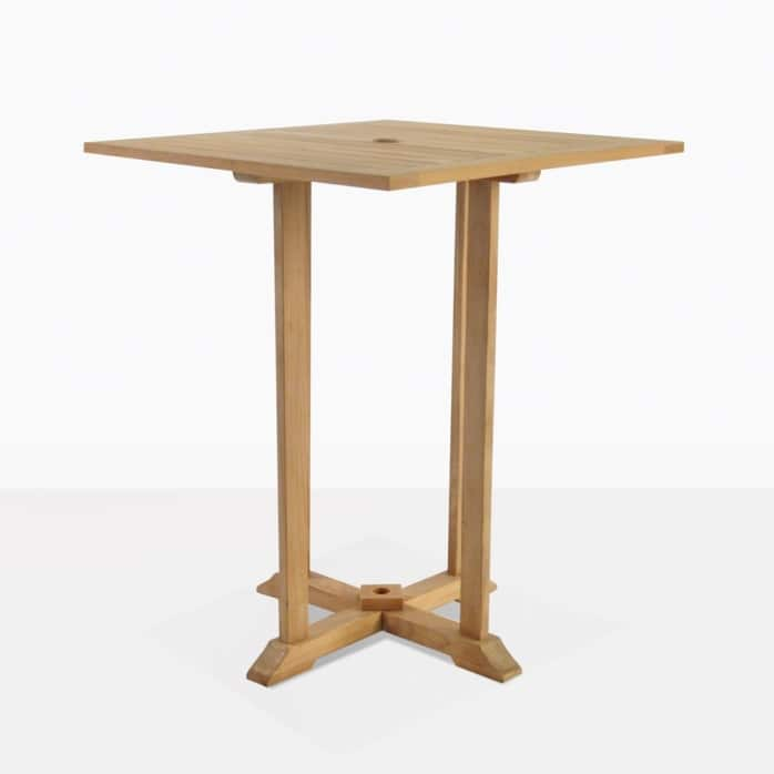 square bar table teak outdoor