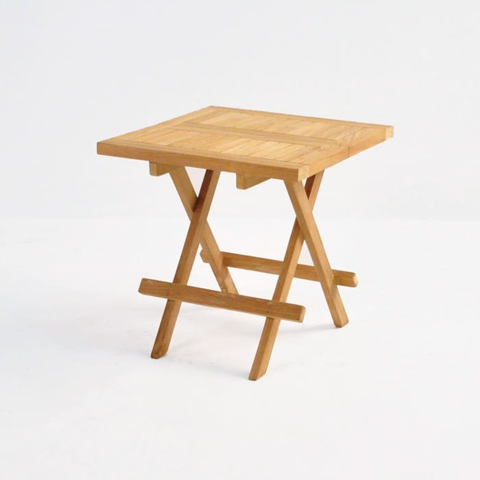Teak Picnic Table (Square) front angle view