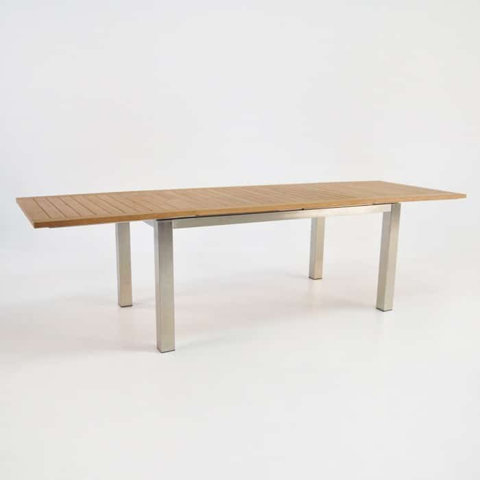 Stainless Steel and Teak Extension Table 165cm : ss 64 extension 21 from designwarehouse.co.nz size 700 x 700 jpeg 33kB