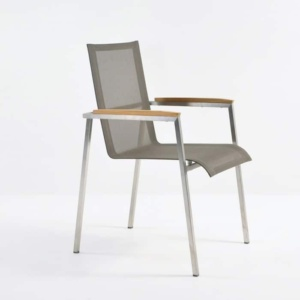 Summer Stacking Dining Chair (Taupe)-0