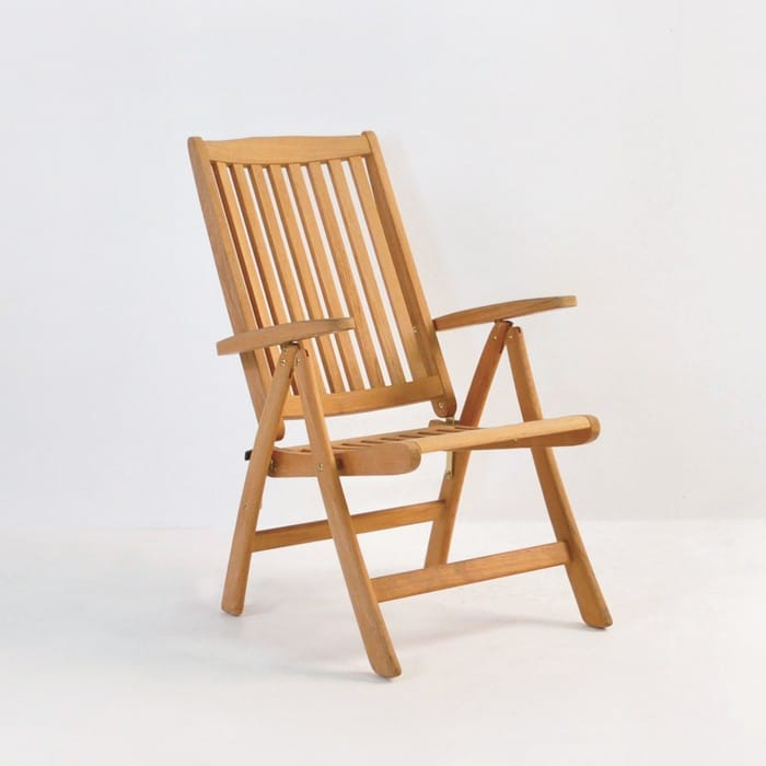 St moritz teak folding relaxing reclining chair design for Relaxing chair design
