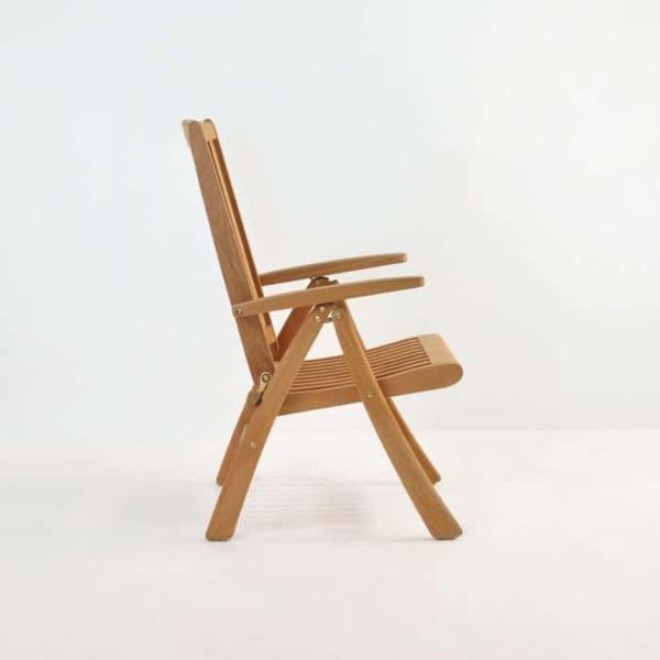 St. Moritz Teak Folding Relaxing Reclining Chair-1137