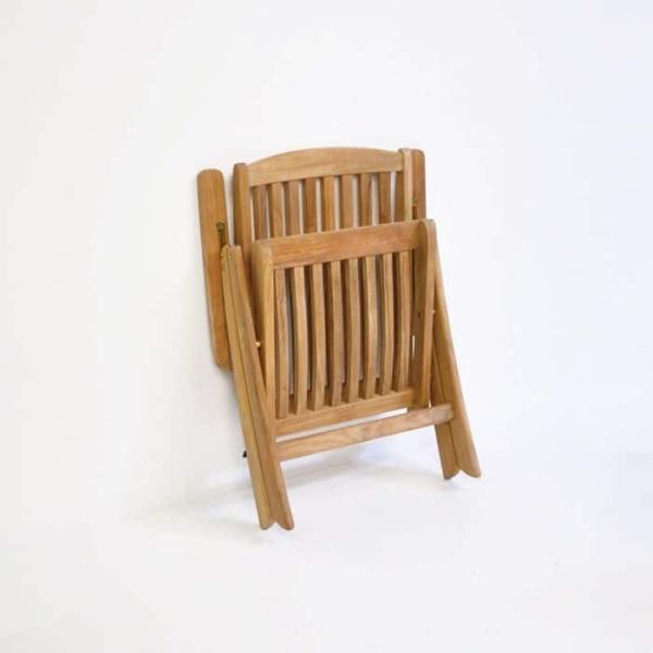 St. Moritz Teak Folding Relaxing Reclining Chair-1136