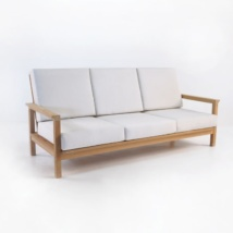 st tropez teak sofa with sunbrella cushions