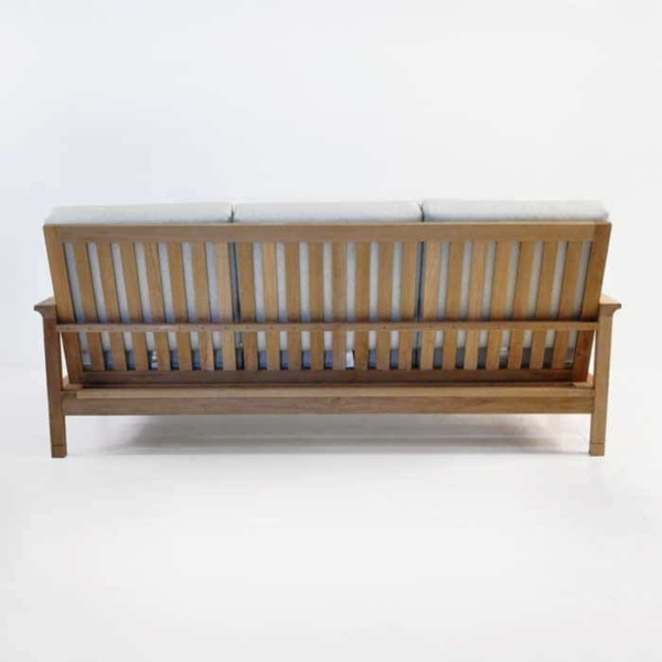 st tropez teak sofa rear view