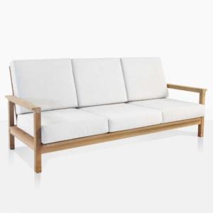 st. tropez teak outdoor sofa angle