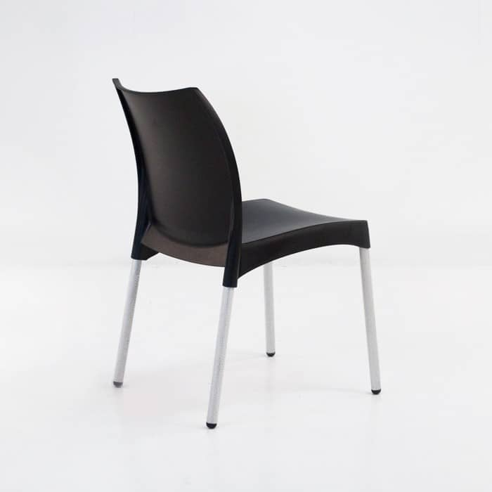Stax Cafe Dining Chair (Black)-1276