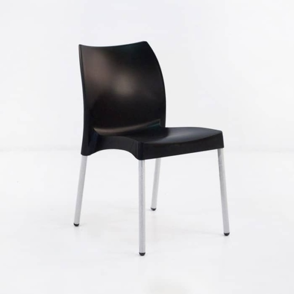 Stax Cafe Dining Chair (Black)-0