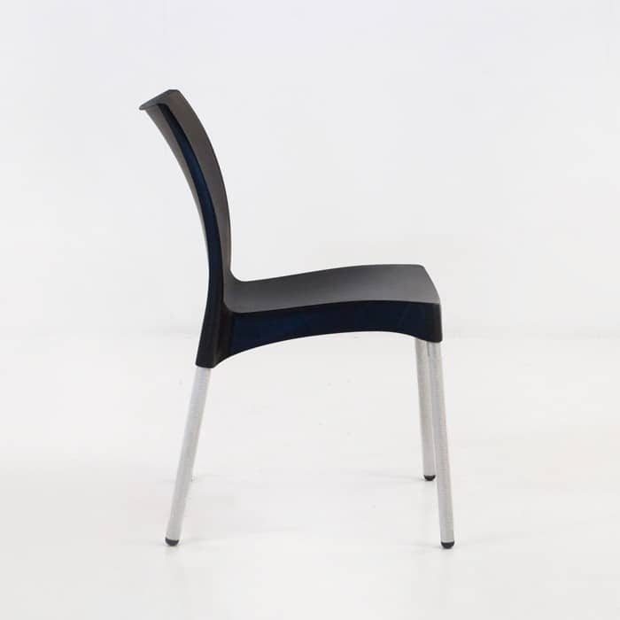 Stax Cafe Dining Chair (Black)-1275