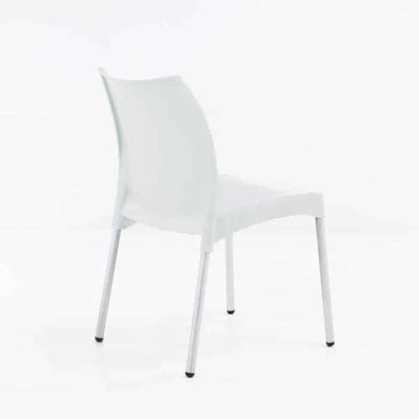 Stax Cafe Dining Chair (White)-1281