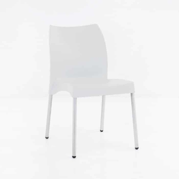 Stax Cafe Dining Chair (White)-0
