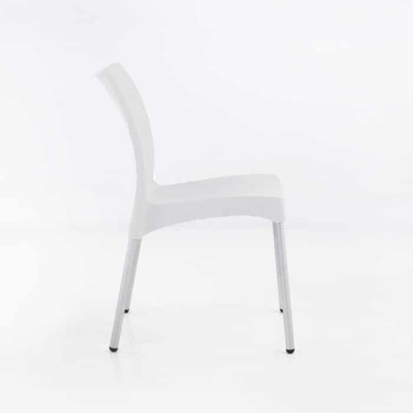 Stax Cafe Dining Chair (White)-1282