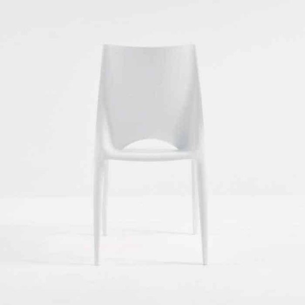 Stiletto Outdoor Dining Chair in Polypropylene (White)-530