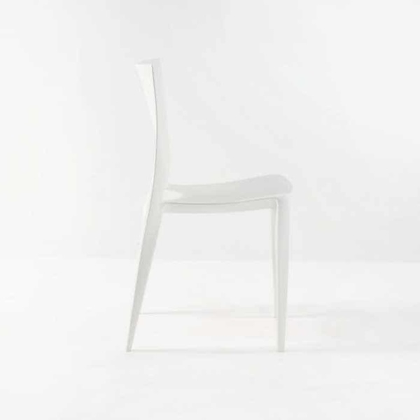 Stiletto Outdoor Dining Chair in Polypropylene (White)-529