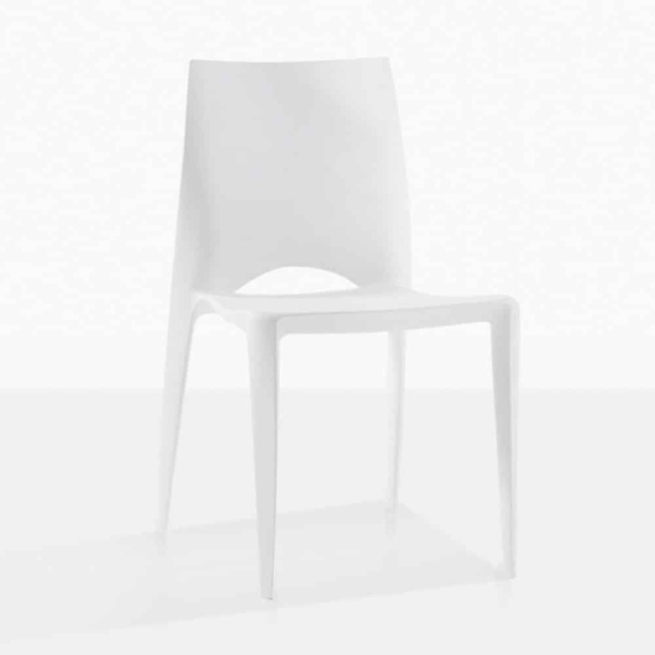 Stiletto Outdoor Dining Chair in Polypropylene white