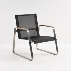 Summer Stainless Steel Batyline Relaxing Chair (Black)-0