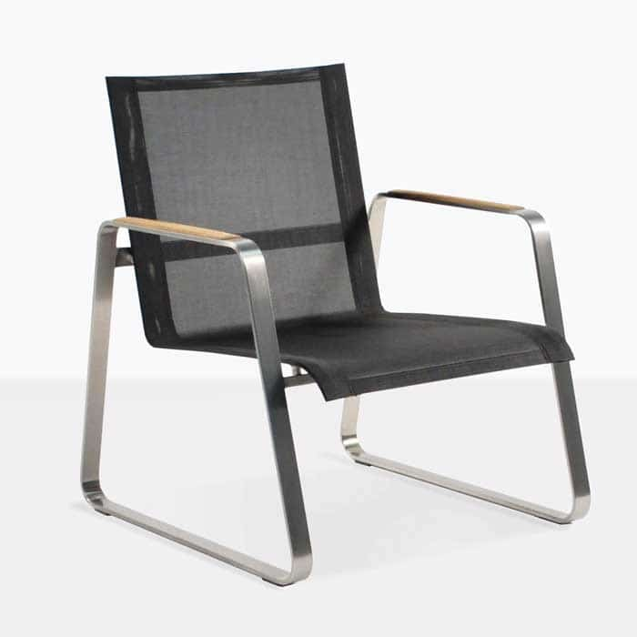 Summer Low Relaxing Chair With Black Mesh