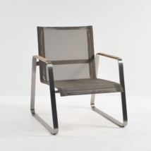 Summer Stainless Steel Batyline Relaxing Chair (Taupe)-0