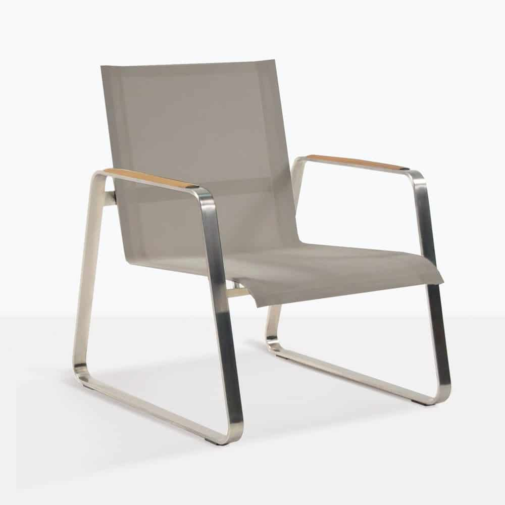 Summer Low Relaxing Chair With Batyline Mesh