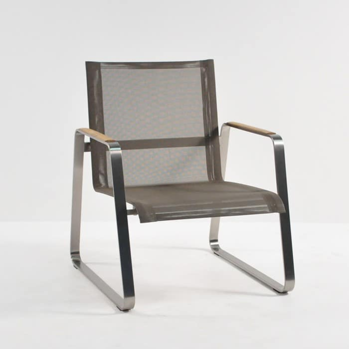 Summer stainless steel batyline relaxing chair taupe for Relaxing chair design