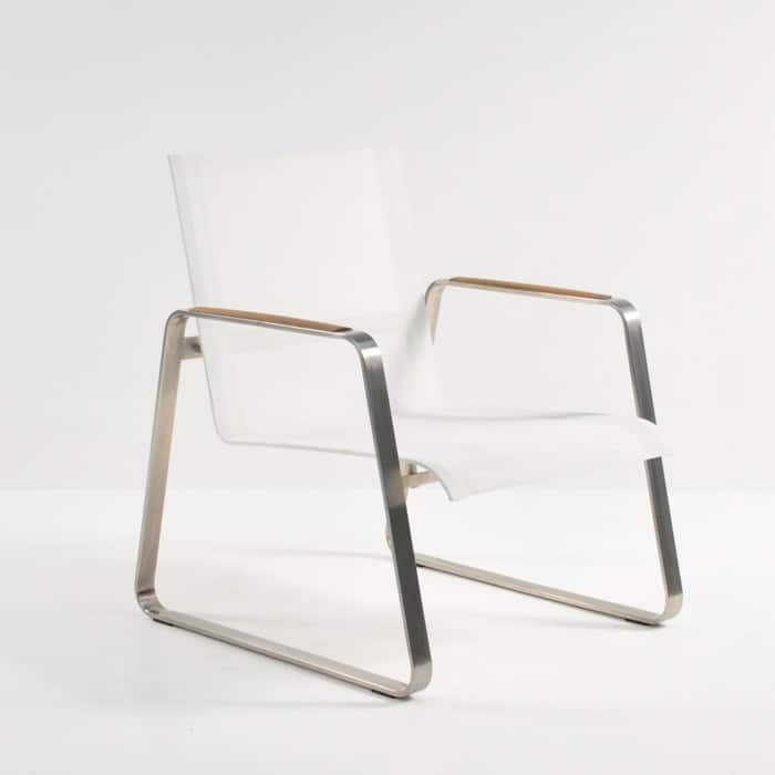 Summer stainless steel batyline relaxing chair white for Relaxing chair design