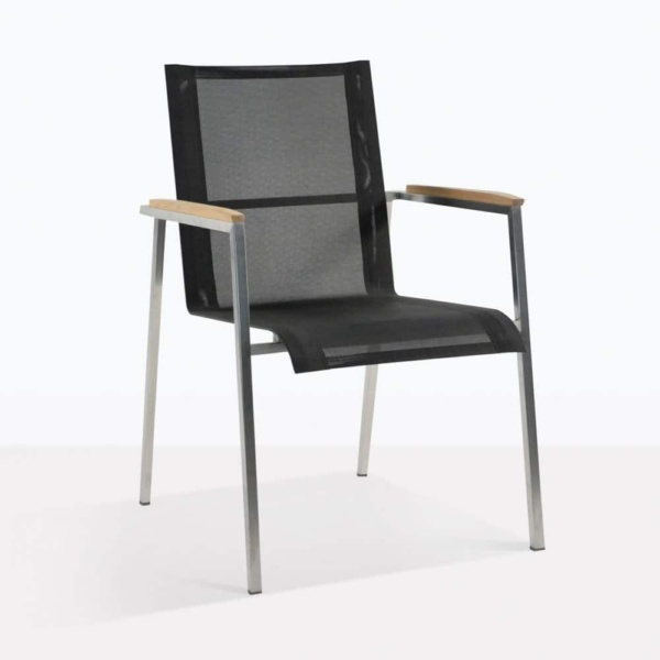 summer stacking batyline dining chair black