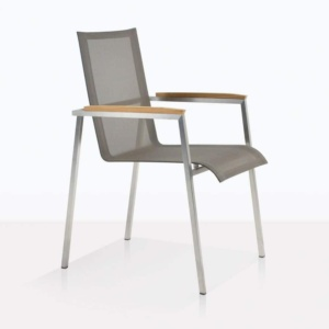 summer stacking batyline dining chair taupe