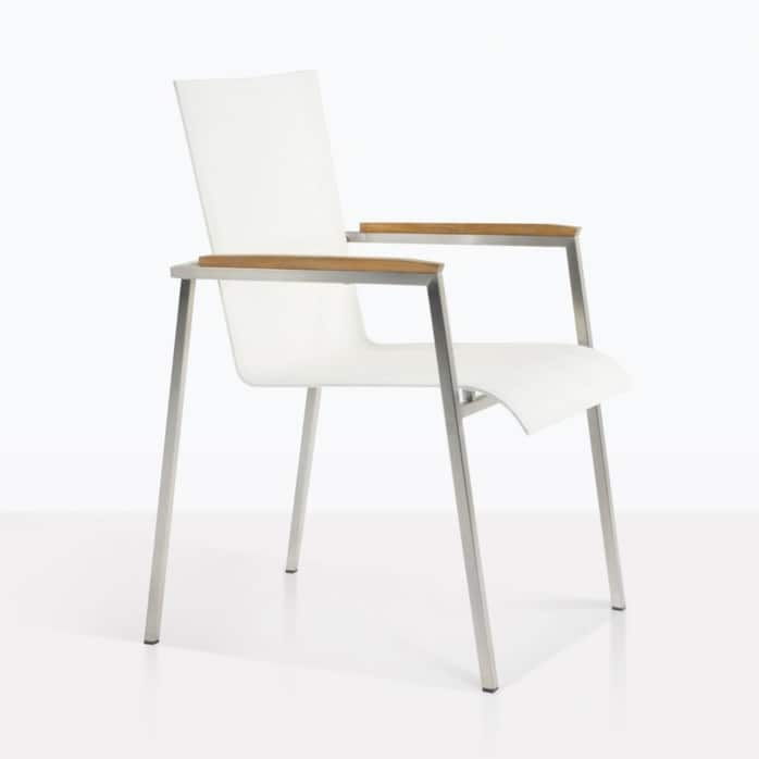 summer stacking white dining chair
